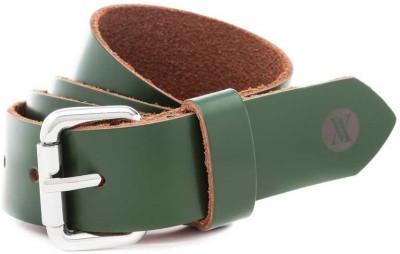 Viari Women Casual Green Genuine Leather Belt