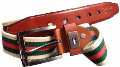Srbelt Men Multicolor Fabric Belt