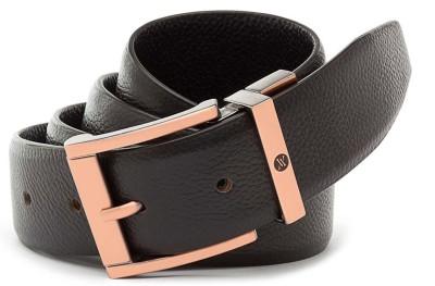 Viari Men Formal Brown Genuine Leather Belt