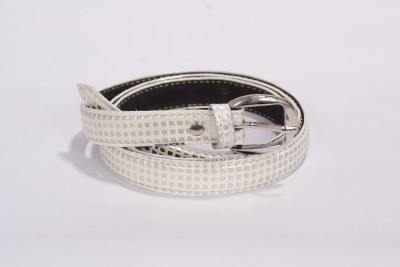 Victoria Secret Women Casual White Genuine Leather Belt