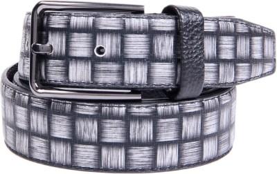 Ladecor Men Formal Grey Artificial Leather Belt