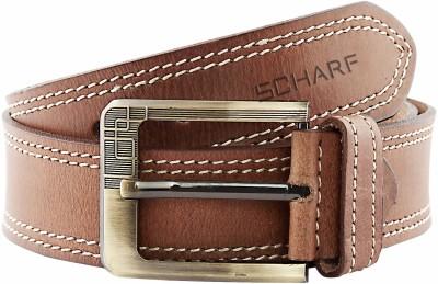 Scharf Men Formal, Casual Brown Genuine Leather Belt