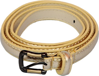 SRI Women Casual Gold Artificial Leather Belt