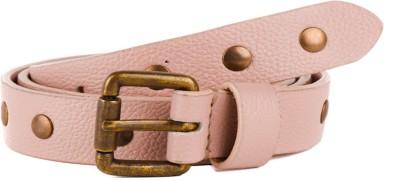 Paradigm Design Lab Women Casual Pink Genuine Leather Belt