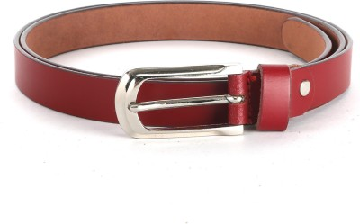 The Deer Club Women Casual Red Genuine Leather Belt