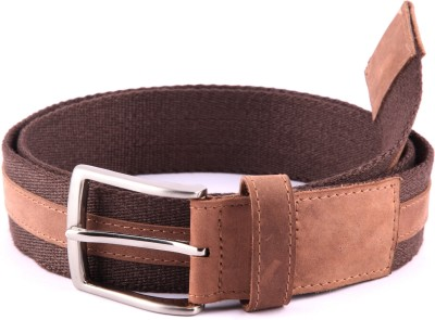 Bluth Men, Women Casual Brown Canvas Belt