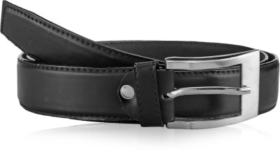 Allura Men Formal Black Artificial Leather Belt