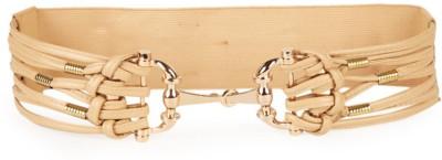 Gen Women Casual Beige Artificial Leather Belt