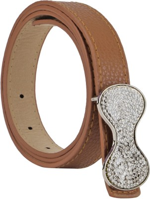 Freshka Women Party Brown Artificial Leather Belt
