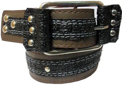 URFashion Boys, Men, Girls Casual, Party, Evening Brown Artificial Leather, Canvas Belt