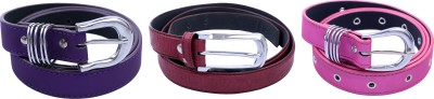 Contra Girls Purple, Maroon, Pink Artificial Leather Belt