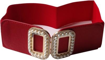 Grace Fashion Villa Girls Maroon Synthetic Belt