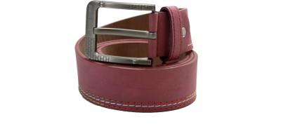 Drakemen Men Casual Red Genuine Leather Belt