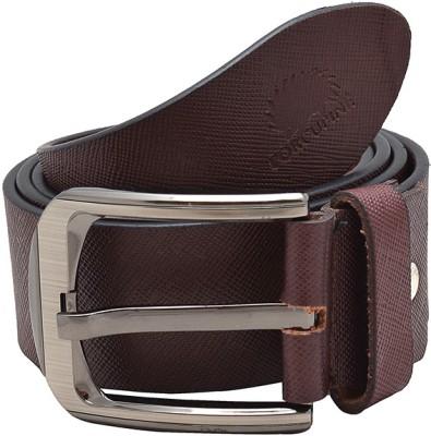 Porcupine Men Formal Brown Genuine Leather Belt