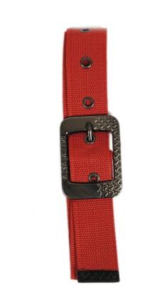 Bs Spy Women Casual Red Canvas Belt