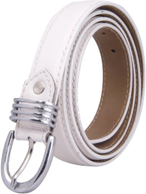 Chaklu Paklu Girls White Artificial Leather Belt