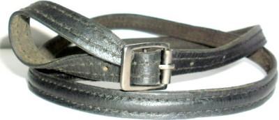 Troyfashion Girls Black Genuine Leather Belt
