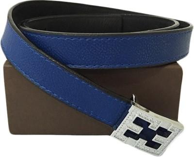 Zaira diamond Women Blue Genuine Leather Belt