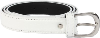 Lotus Designer Girls Casual White Artificial Leather Belt