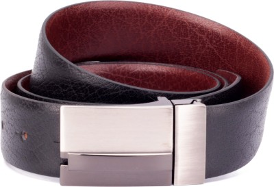 Ohm Leather Men Formal Black, Brown Genuine Leather Reversible Belt