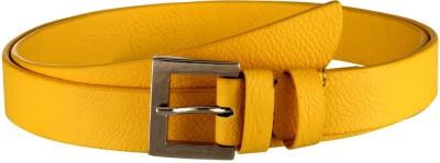 Orkee Women Evening Yellow Artificial Leather Belt