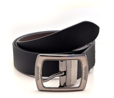 KRG ENTERPRISES Men Formal Black Genuine Leather Belt