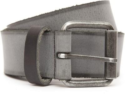 Kethini Men Formal Grey Genuine Leather Belt