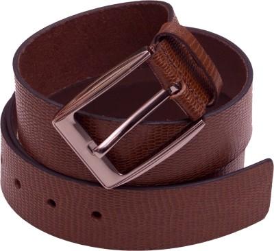 Attitude Works Men Brown Genuine Leather Belt