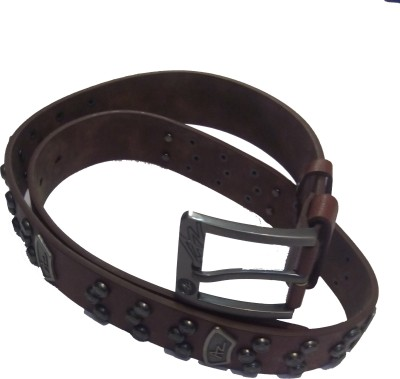 Attitude Works Men Brown Artificial Leather Belt