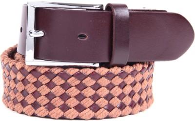 Ladecor Men Casual Beige Fabric Belt