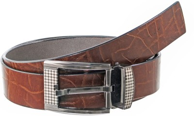 Elsker Boys, Men Casual, Evening, Party, Formal Brown Genuine Leather Belt