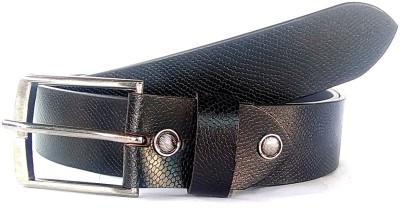macho Men Black Genuine Leather Belt