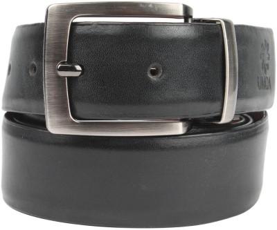 Umda Men Casual Black Genuine Leather Reversible Belt