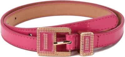 Ocean Enterprises Girls, Women Formal, Casual, Party Pink Artificial Leather Belt