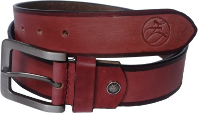Czar Enterprises Boys Casual Maroon Genuine Leather Belt