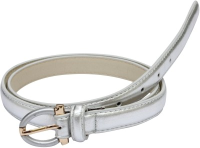 SRI Women Silver Artificial Leather Belt