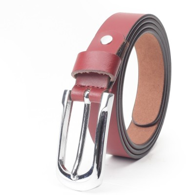Chisel Women Casual Red Genuine Leather Belt
