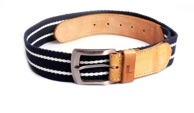 Ligans Ny Men, Women Casual Blue, Khaki Genuine Leather, Canvas Belt