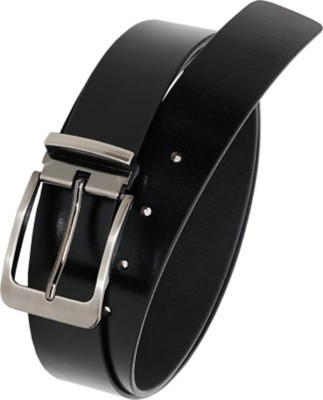Ruchiworld Boys, Men Formal Black Genuine Leather Belt