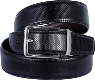 Kritika Men Black Genuine Leather Reversible Belt