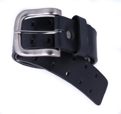 Bull Garments Men Casual Black Genuine Leather Belt