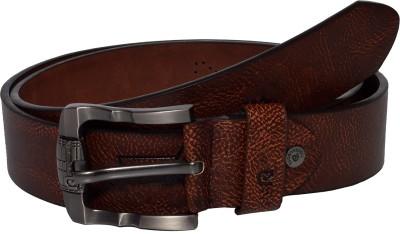 Gen Men Casual Tan Genuine Leather Belt
