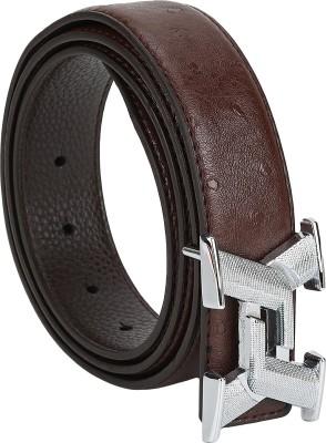 Jmb Men Casual Black Genuine Leather Belt