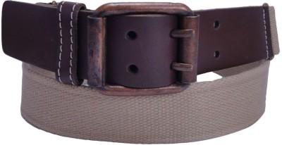 Revo Men Casual Brown Canvas Belt