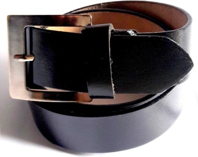 NANYUAN Men Black Genuine Leather Belt