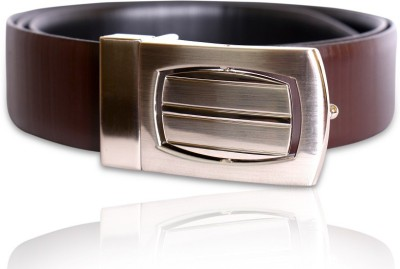 Hangover Men Formal Brown Genuine Leather Reversible Belt
