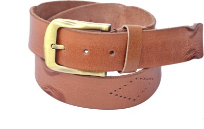 Manshkhino Men Formal Brown Genuine Leather Belt