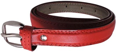 FINCH FEATHER Girls, Women Casual, Formal Red Artificial Leather Belt