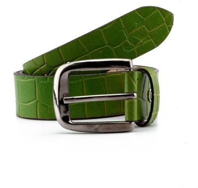 Junckers Men, Boys Casual, Party, Evening Green Genuine Leather Belt