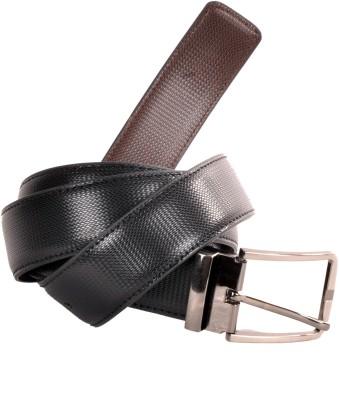Nerita Men, Boys Formal Black Artificial Leather Reversible Belt